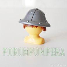 Playmobil: PLAYMOBIL CASCO GRIS PLATEADO CABALLERO MEDIEVAL SOLDADO ASALTO CASTILLO JUSTA COMBATE CC1. Lote 174376497