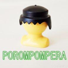 Playmobil: PLAYMOBIL PELUCA CLÁSICA NEGRA PELO HOMBRE MORENO CABELLO IDEAL CUSTOM. Lote 174378375