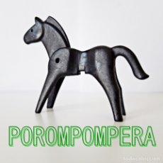Playmobil: PLAYMOBIL ANTIGUO CABALLO NEGRO PRIMERA EPOCA OESTE VAQUERO INDIO SHERIFF COWBOY MEDIEVAL GRANJA . Lote 174378908