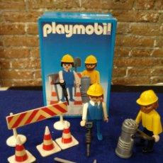 Playmobil: PLAYMOBIL 3368 OBREROS DE LA CONSTRUCCIÓN. Lote 174914525