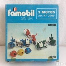 Playmobil: FAMOBIL PLAYMOBIL 3 MOTOS REF 3208. Lote 175334810