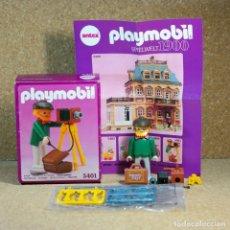 Playmobil: PLAYMOBIL 5401 COMPLETO CON CAJA, FOTÓGRAFO VICTORIANO CON CÁMARA FOTOS SERIE LINEA ROSA 5300. Lote 210068766