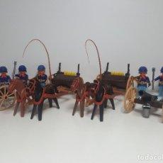 Playmobil: LOTE ARTILLERIA NORDISTA PLAYMOBIL 3729 CAÑON YANKI CARRO COMBATE OESTE WESTERN. Lote 175737899