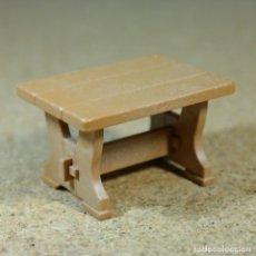 Playmobil: PLAYMOBIL MESA MARRÓN, MUEBLE MEDIEVAL OESTE WESTERN GRANJA VICTORIANO. Lote 175877769