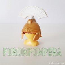 Playmobil: PLAYMOBIL CASCO DORADO CENTURIÓN ROMANO CON PENACHO BLANCO CEPILLO SOLDADO ROMA CC2. Lote 176257797