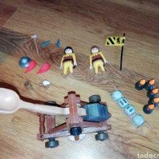 Playmobil: LOTE PLAYMOBIL. CATAPULTA MEDIEVAL CON SOLDADOS Y ACCESORIOS. Lote 176768028