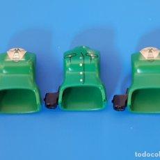 Playmobil: PLAYMOBIL TRES CUERPOS TORSOS VERDES CARTUCHERA MUJER POLICÍA SOLDADOS MEDIEVAL CIUDAD VIKINGOS. Lote 177073112