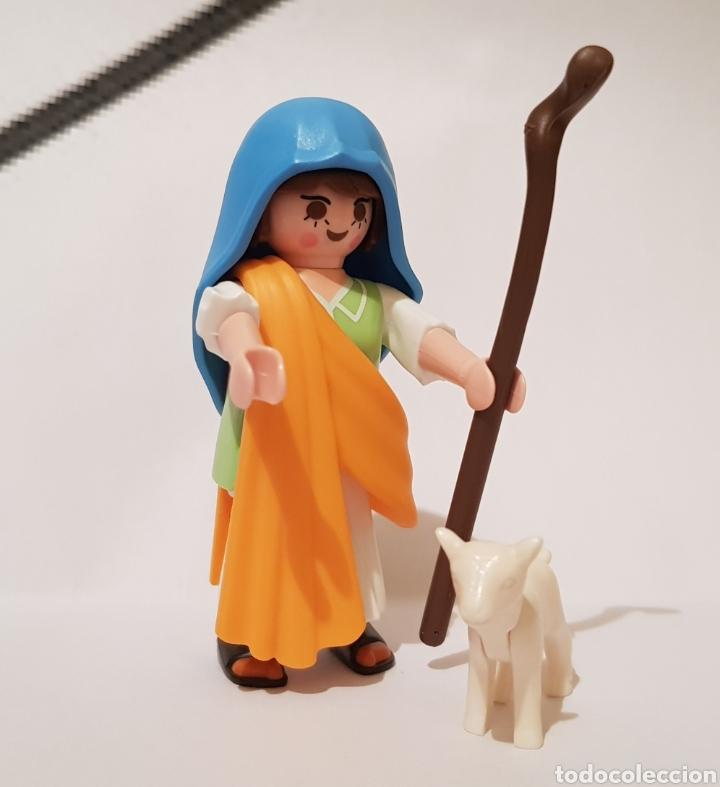 PLAYMOBIL PASTORA PASTORCILLA PARA EL BELEN CON BORREGO (Juguetes - Playmobil)