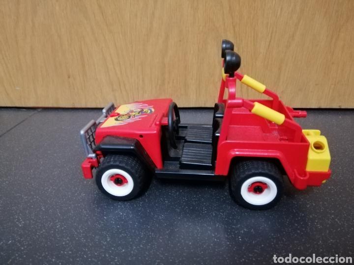 Playmobil: Playmobil 7962 3754 jeep rojo todoterreno moto motocicleta enduro motocross figura piloto coche - Foto 2 - 177934892