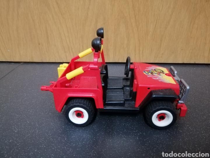 Playmobil: Playmobil 7962 3754 jeep rojo todoterreno moto motocicleta enduro motocross figura piloto coche - Foto 4 - 177934892