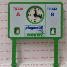 Playmobil: PLAYMOBIL 4700 MARCADOR FÚTBOL TABLERO EQUIPOS RELOJ DERBY CARTEL PANEL. Lote 178033128