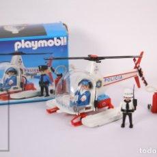 Playmobil: CONJUNTO DE PLAYMOBIL - HELICÓPTERO DE POLICÍA - REF. 3144 - AÑOS 80 - CAJA ORIGINAL. Lote 178853832