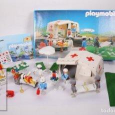 Playmobil: CONJUNTO PLAYMOBIL - HOSPITAL DE CAMPAÑA / TIENDA CRUZ ROJA - REF. 3224 - AÑOS 80-90 - CAJA ORIGINAL. Lote 178854948