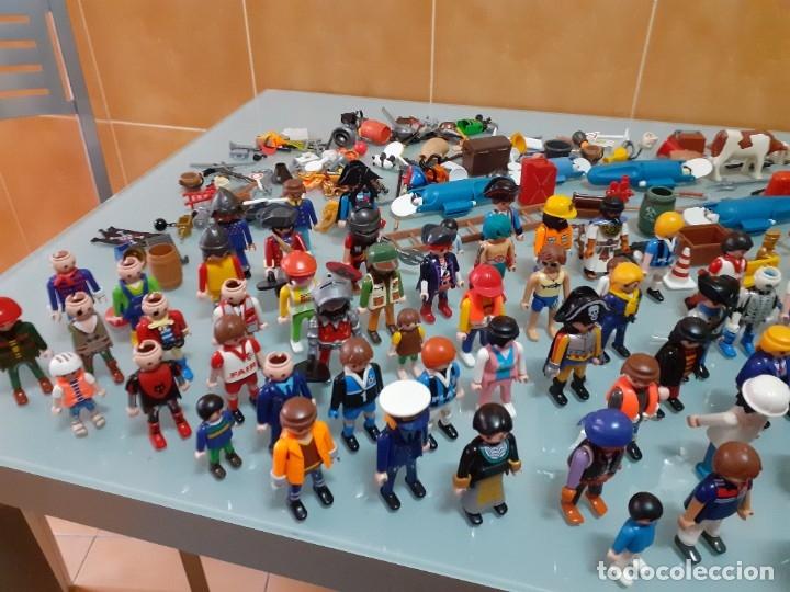 Playmobil: Lote de 105 cliks de Playmobil + complementos + animales.Distintas épocas. - Foto 6 - 178859435