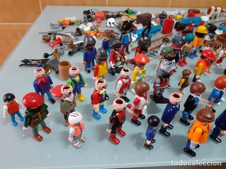 Playmobil: Lote de 105 cliks de Playmobil + complementos + animales.Distintas épocas. - Foto 7 - 178859435