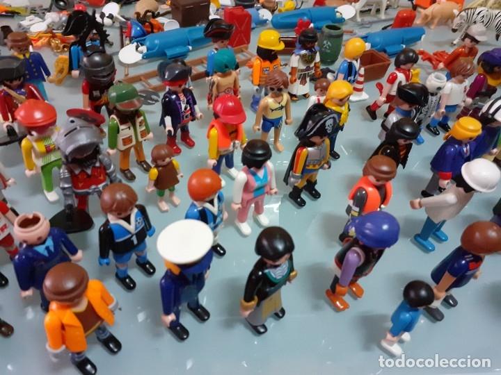Playmobil: Lote de 105 cliks de Playmobil + complementos + animales.Distintas épocas. - Foto 8 - 178859435