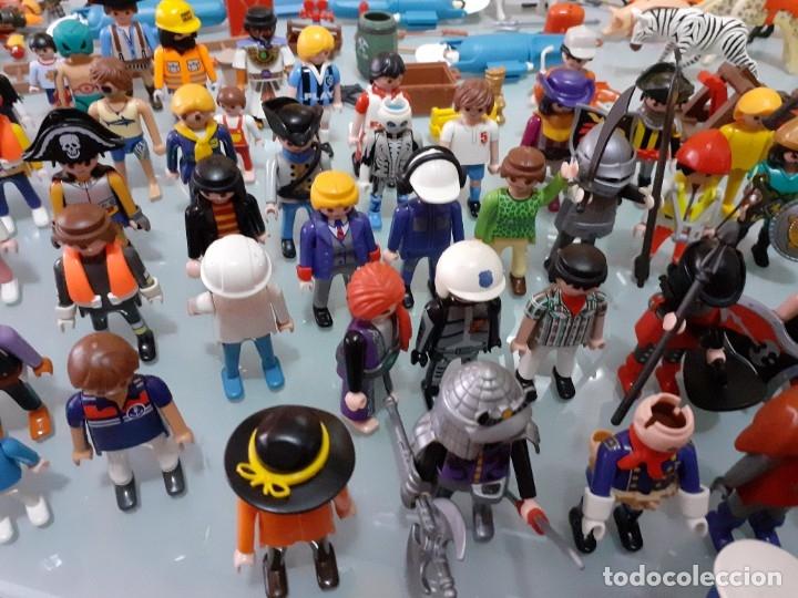 Playmobil: Lote de 105 cliks de Playmobil + complementos + animales.Distintas épocas. - Foto 13 - 178859435