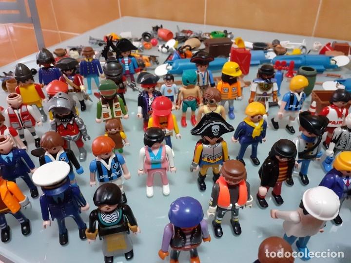 Playmobil: Lote de 105 cliks de Playmobil + complementos + animales.Distintas épocas. - Foto 19 - 178859435