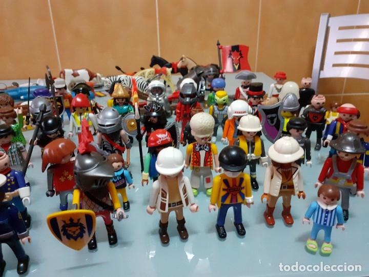 Playmobil: Lote de 105 cliks de Playmobil + complementos + animales.Distintas épocas. - Foto 21 - 178859435
