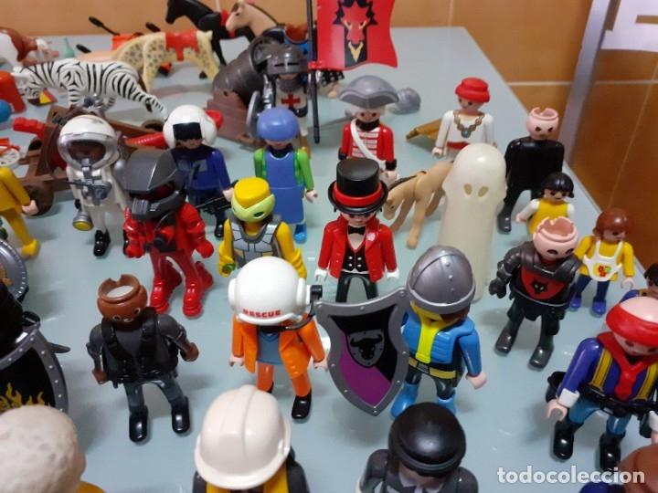 Playmobil: Lote de 105 cliks de Playmobil + complementos + animales.Distintas épocas. - Foto 22 - 178859435