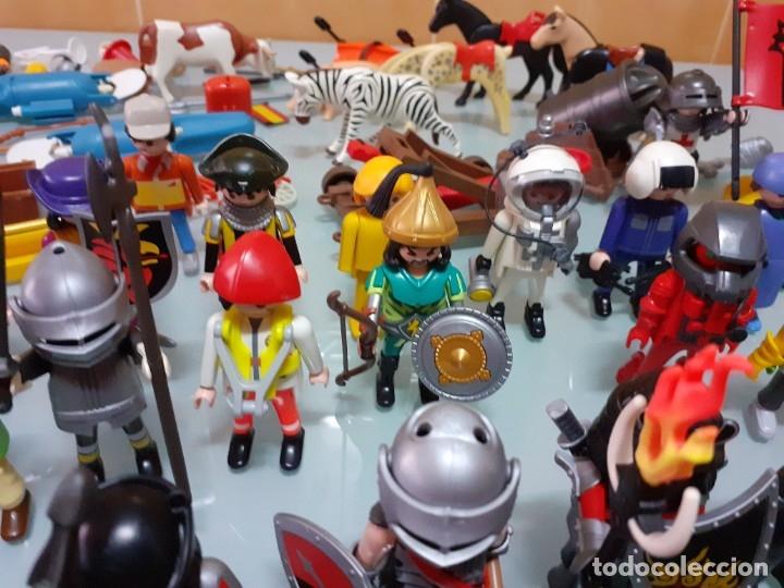 Playmobil: Lote de 105 cliks de Playmobil + complementos + animales.Distintas épocas. - Foto 23 - 178859435