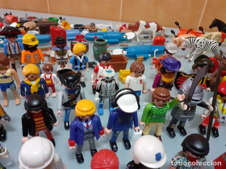Playmobil: Lote de 105 cliks de Playmobil + complementos + animales.Distintas épocas. - Foto 24 - 178859435