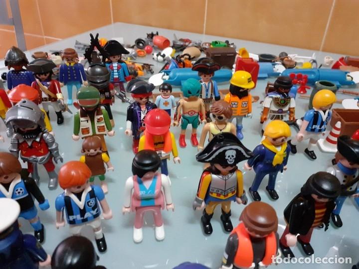 Playmobil: Lote de 105 cliks de Playmobil + complementos + animales.Distintas épocas. - Foto 25 - 178859435