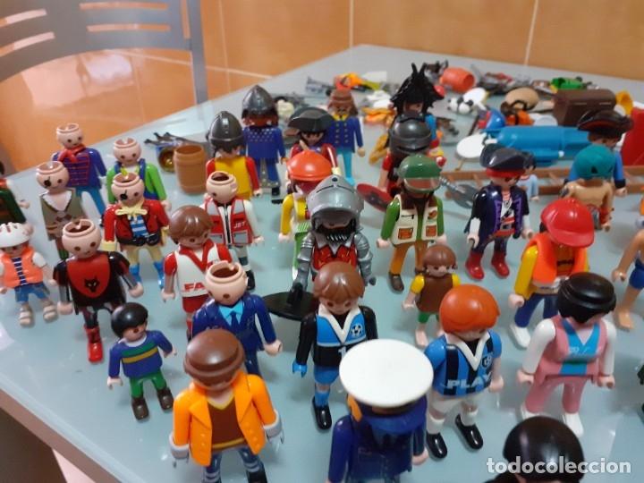 Playmobil: Lote de 105 cliks de Playmobil + complementos + animales.Distintas épocas. - Foto 26 - 178859435