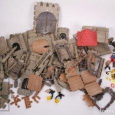Playmobil: CONJUNTO DE PLAYMOBIL - CASTILLO FORTALEZA - CON FIGURAS - REF. 3446 - AÑOS 80. Lote 178925342