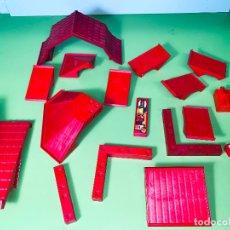 Playmobil: LOTE PIEZA TEJADO ÁNGULO RECTO ROJAS PILAR CASA UNIÓN SYSTEM X. Lote 179193148