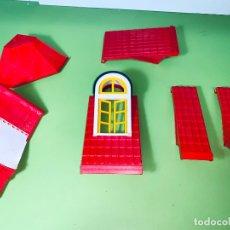 Playmobil: LOTE PIEZA TEJADO ÁNGULO VICTORIANO O RECTO ROJAS PILAR CASA UNIÓN SYSTEM X. Lote 179193421