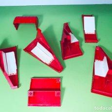 Playmobil: LOTE PIEZA TEJADO ÁNGULO VICTORIANO O RECTO ROJAS PILAR CASA UNIÓN SYSTEM X. Lote 179193520
