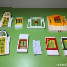 Playmobil: LOTE PIEZA BLANCO PARED UNIÓN SYSTEM X VENTANA PUERTA . Lote 179194295