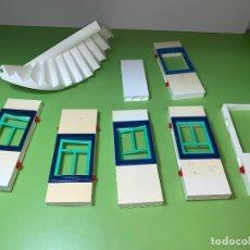 Playmobil: LOTE PIEZA BLANCO PARED UNIÓN SYSTEM X VENTANA PUERTA ESCALERA . Lote 179194345