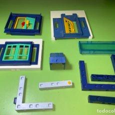Playmobil: LOTE PIEZA BLANCO PARED SYSTEM X VENTANA PUERTA ESCALERA . Lote 179194371