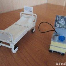 Playmobil: PLAYMOBIL: LOTE DE MOBILIARIO HOSPITAL ( CAMA COMPLETA + MAQUINA DE ECOGRAFIAS). Lote 179202311