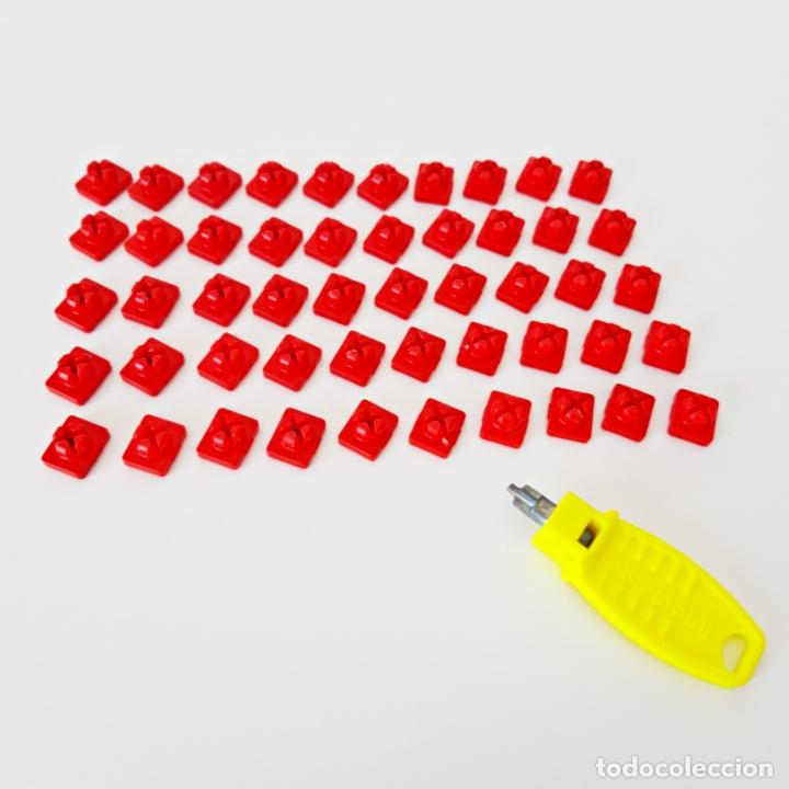 Playmobil: PLAYMOBIL LOTE 50 ENGANCHES ROJOS MONTAJE SYSTEM X + LLAVE CASTILLO MEDIEVAL CASA GRANJA CIUDAD - Foto 3 - 179314462