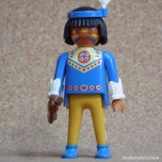 Playmobil: PLAYMOBIL FIGURA INDIO CON RIFLE, OESTE WESTERN POBLADO. Lote 179530777