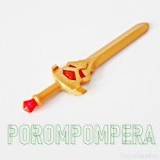 Playmobil: PLAYMOBIL ESPADA DORADA CON JOYAS ROJAS 4006 4163 4835 5493 5637 5996 CABALLERO DRAGÓN. Lote 180071575