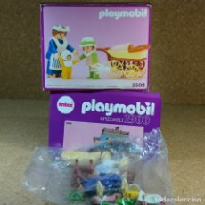 Playmobil: PLAYMOBIL 5502 COMPLETO CON CAJA, NIÑERA CON COCHECITO BEBE Y NIÑA, SERIE ROSA VICTORIANO 5300. Lote 217660227