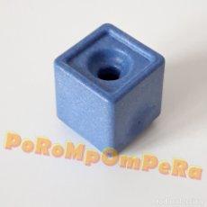 Playmobil: PLAYMOBIL MACETERO CUADRADO AZUL 1 AGUJERO SUPERMERCADO 3200 PLANTA FLOR MACETA TIESTO SYSTEM X G4. Lote 181116602