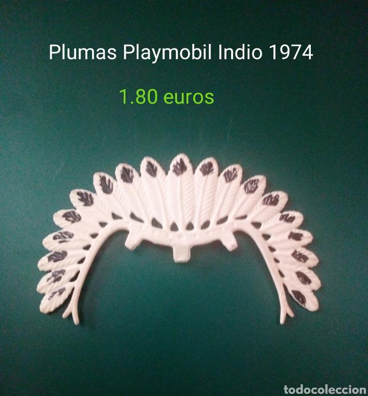 PLUMAS PLAYMOBIL JEFE INDIO 1974 (Juguetes - Playmobil)