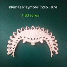 Playmobil: PLUMAS PLAYMOBIL JEFE INDIO 1974. Lote 181439992