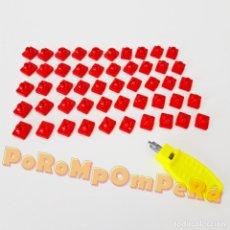 Playmobil: PLAYMOBIL LOTE 50 ENGANCHES ROJOS MONTAJE SYSTEM X + LLAVE CASTILLO MEDIEVAL CASA GRANJA CIUDAD. Lote 181476936