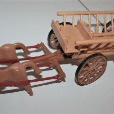 Playmobil: PLAYMOBIL MEDIEVAL CARRETA CON CABALLOS, OESTE, GRANJA, DIORAMA. Lote 182328372