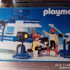 Playmobil: 3468 FURGONETA TVI UNIDAD MOVIL TELEVISIÓN, EPOCA FINAL DE FAMOBIL. INCOMPLETO PERO EN BUEN ESTADO. Lote 194713930