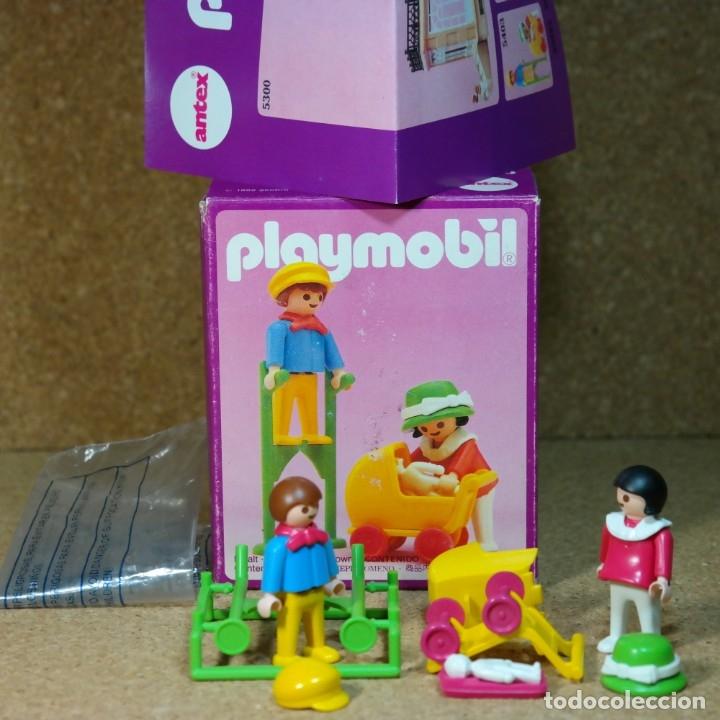 PLAYMOBIL REF. 5403 COMPLETO CON CAJA, NIÑOS CON COCHECITO ZANCO, VICTORIANO LINEA ROSA MANSION 5300 (Juguetes - Playmobil)