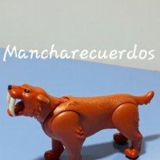 Playmobil: PLAYMOBIL 5087 TIGRE DIENTES DE SABLE NARANJA 5102 ANIMAL PREHISTORIA CAVERNICOLAS 2010PLAYMOVIL. Lote 182809853