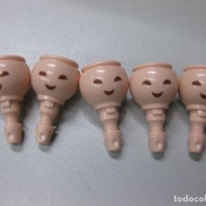 Playmobil: PLAYMOBIL LOTE CABEZAS RECAMBIO ORIENTAL CHICO NINJA SAMURAI 5 CABEZAS. Lote 182910286