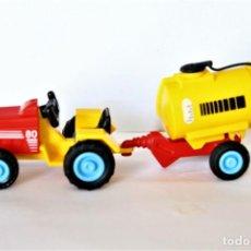 Playmobil: PLAYMOBIL MEDIEVAL TRACTOR CON REMOLQUE CISTERNA GRANJA NIÑO MJUGUETE. Lote 183502548